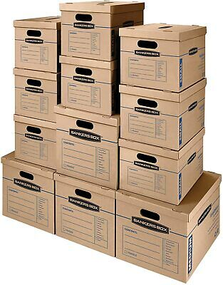 Smoothmove Classic Moving Kit Boxes Tape-free 8 Small 4 Medium 12 Pack