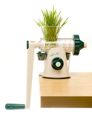 NEW OPEN BOX ~ Green & White Healthy Juicer Manual