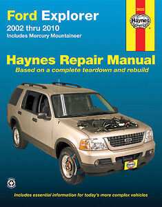 haynes 36025 repair manual ford explorer 2002 2010. Black Bedroom Furniture Sets. Home Design Ideas