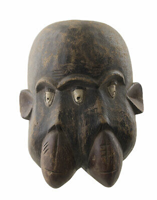 Mask African Monkey Bulu Bulu Janus Art Tribale First Primitive 16745