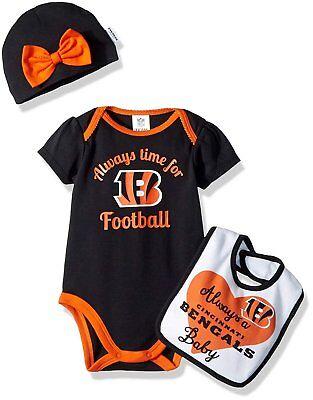 Gerber Childrenswear Baby Girl Bodysuit, Bib & Cap Set