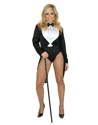 Halloween Costume Tailcoat (Miss Formalities Tailcoat Tail Coat Tuxedo Fancy Dress Halloween Adult)