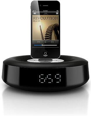 Philips DS1110 Fidelio Docking Speaker System iPod iPhone Dock W/ Alarm Clock