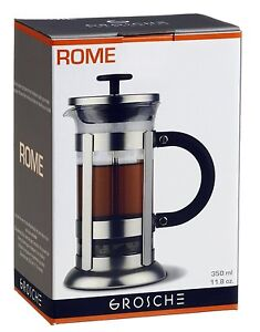 GROSCHE ROME French Press Coffee and Tea maker 350 ml 3 cup (one coffee mug) siz