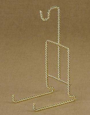 Tripar Twisted Wire Brass Finish Cup & Saucer Stand (23-2455) Saucer Stand Brass