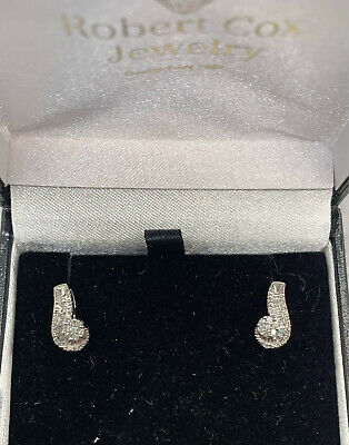10 Kt Diamond Cluster And Channel 20 Pt Total Weight Post Earrings