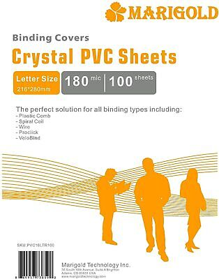 Crystal Clear Binding Covers Presentation - 100 Pack 7 Mil Letter Size Plastic