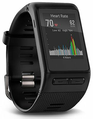*BRAND NEW* Garmin VivoActive HR Heart Rate Monitor Black Regular