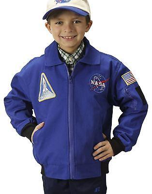 Jr. Flug Anzug Jacke Nasa Blau Astronaut Kinder - Kinder Flug Anzug