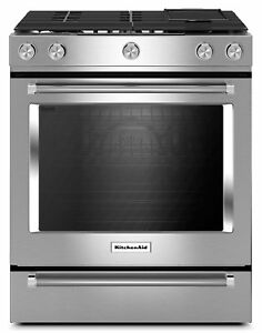 Stainless Steel Slide-In Dual Fuel Convection Range