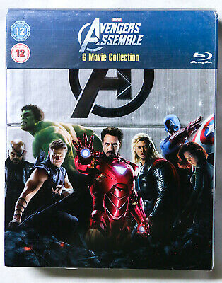 Marvel AVENGERS ASSEMBLE 6 Movie Collection BLU-RAY Captain America Thor