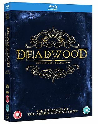 Deadwood The Complete Collection  Blu Ray Box Set  Hbo Series All Seasons 1 2 3