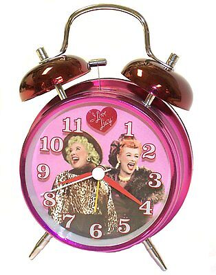 NEW I LOVE LUCY TWIN BELL ALARM CLOCK BATTERY ETHEL