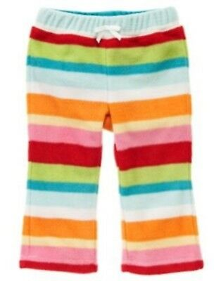 NWT Gymboree Girls Cozy Cutie Striped Fleece Pants Size 3-6-12-18-24 M  & -