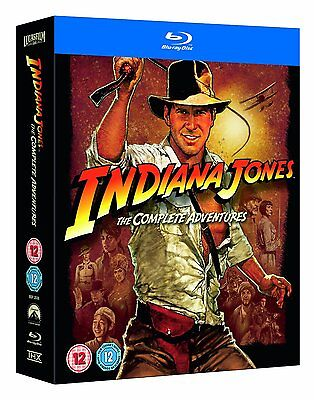 Indiana Jones The Complete Adventures Blu-Ray Set Brand New Free (Ray Set)