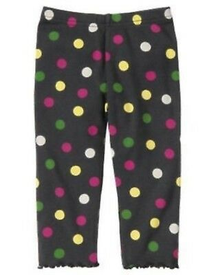 Polka Dot Ruffle Legging - NWT Gymboree Merry & Bright Black Polka Dot Ruffle Bottom Leggings Size 12-18 M