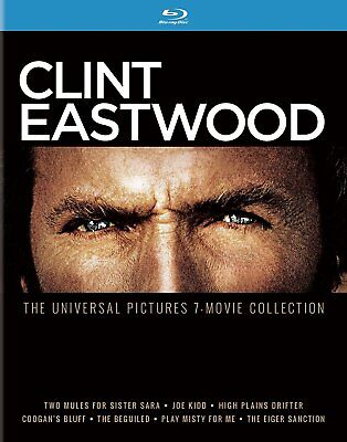 Clint Eastwood  The Universal Pictures 7 Movie Collection  Blu Ray  New Dvd  Shi