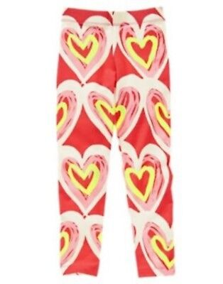 Gymboree NWT Girls Play By Heart Pink Red Heart Leggings Size 4 5 6 7 8 10 & 12](Girls Heart Leggings)