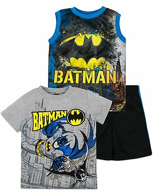Baby Boys' Batman Shirt, Shorts and Tank Top 3 Piece Set - - Batman And Baby