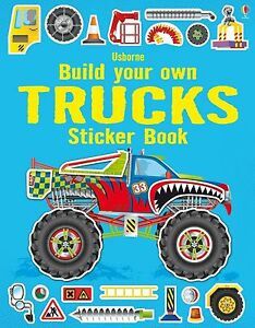 Build Your Own Trucks Sticker  9781409564430 Usborne