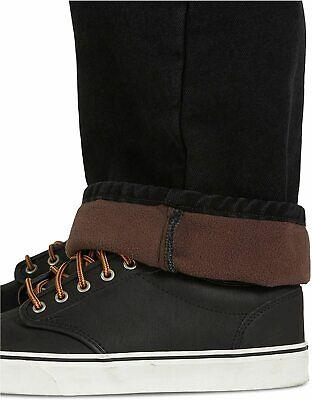 Men s Fleece Lined 5 Pocket Pant, Black, Size 36W X 34L 9toW - $13.99