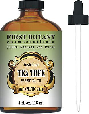 Australian Pure Tea Tree Essential Oil - 4 Fl.oz. with Glass