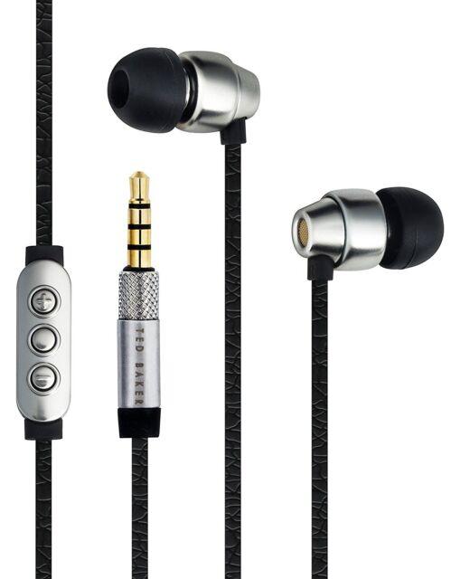 Ted Baker London Dover High Performance In Ear Headphones Black/Silver Gift Box