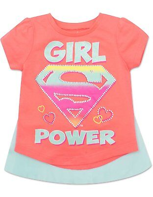 Super Girl Cape (Toddler Supergirl T-shirt with Cape