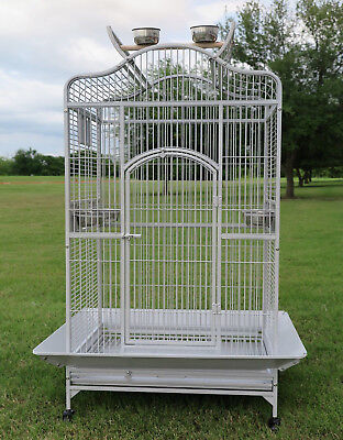 Large Open Play Top Bird Parrot Cage Cockatiel Macaw Conure Aviary Finch 152