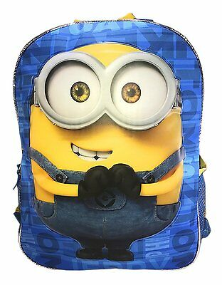 Despicable Me 2 In 1 Flip Strap 16  Backpack Double Trouble School Bag Kids