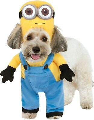 Pet Dog Cat Minion Despicable Me Halloween TV Fancy Dress Costume Outfit Clothes 3