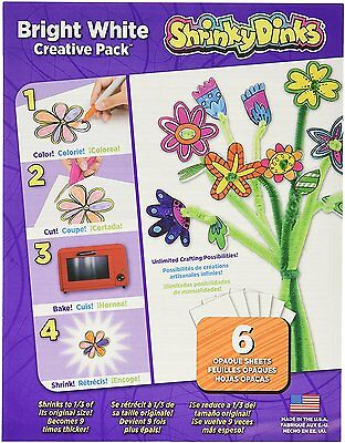 "Shrinky Dinks Bright White Creative Pack 6 Opaque Sheets 8""x10"""