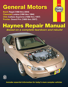 Haynes-38010-Repair-Manual-GM-General-Motors-Buick-Chevrolet-Olds-Pontiac