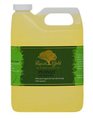 Premium Peanut - 32 Oz Premium Liquid Gold Peanut Oil Refined 100% Pure Organic Cold Pressed Skin