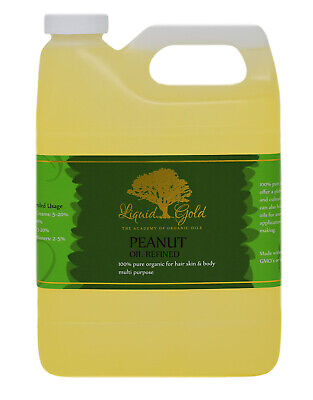 32 Oz Premium Liquid Gold Peanut Oil Refined 100% Pure Organic Cold Pressed -