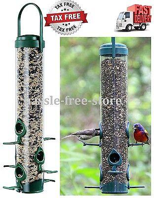 Garden Song Squirrel Proof Wild Bird Feeder Hanging Seed Wildlife Outdoor NEW
