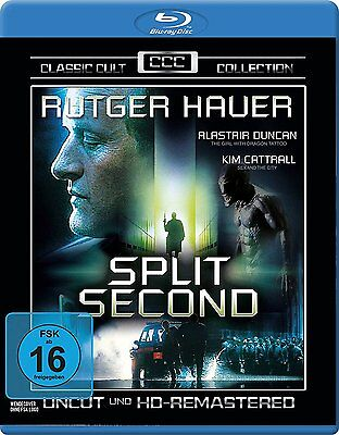 Split Second  Rutger Hauer Kim Cattrall  Import Blu Ray Brand New Usa Compatible