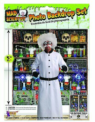 Mad Scientist Lab Haunted House Carnival Halloween Party Photo Backdrop Set](Mad Scientist Lab Halloween Party)