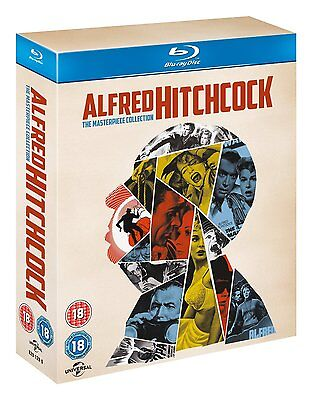 Alfred Hitchcock The Masterpiece Collection  Blu Ray  14 Discs  Region Free  New