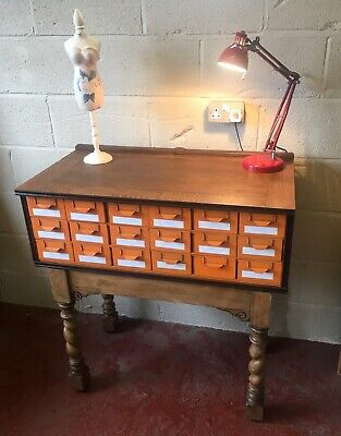 REDUCED Vintage oak industrial drawer cabinet, sideboard, island.