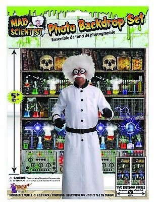 Mad Scientist Lab Photo Backdrop Set Laboratory Halloween Party Decor Prop 5'](Mad Scientist Lab Halloween Party)