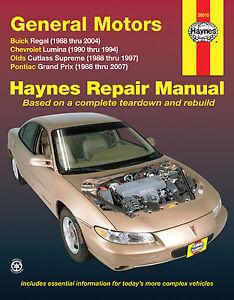 Repair-Manual-fits-1988-2007-Pontiac-Grand-Prix-HAYNES