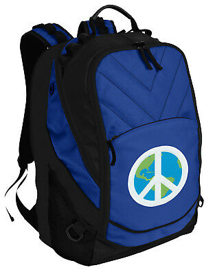 Peace Sign Backpack BEST World Peace Laptop Computer Bags For SCHOOL or (Best World Traveler Bags)