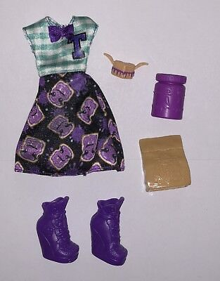 Monster High School Spirit Twyla Boogey Man Doll Outfit Clothes Dress Shoes - School Spirit Outfits