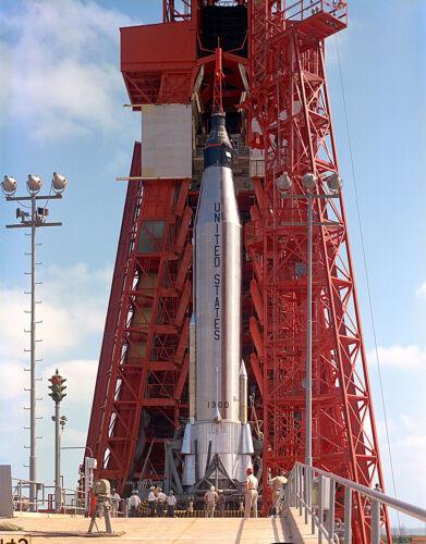 PRE-LAUNCH TEST FOR MERCURY-ATLAS 9 (MA-9) FAITH 7 - 8X10 NASA PHOTO (EP-186)