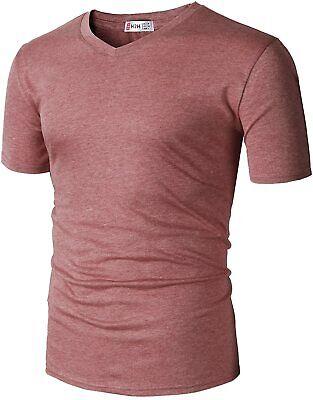 H2H Mens Casual Slim Fit Short Sleeve T-Shirts Cotton Blende