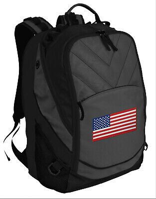 USA Backpack Laptop Computer Bag BEST USA FLAG BACKPACKS - for SCHOOL or