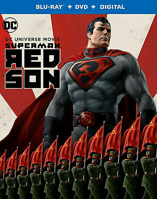 DC SUPERMAN RED SON BLU-RAY +DVD + DIGITAL CODE + SLIPCOVER / BRAND NEW