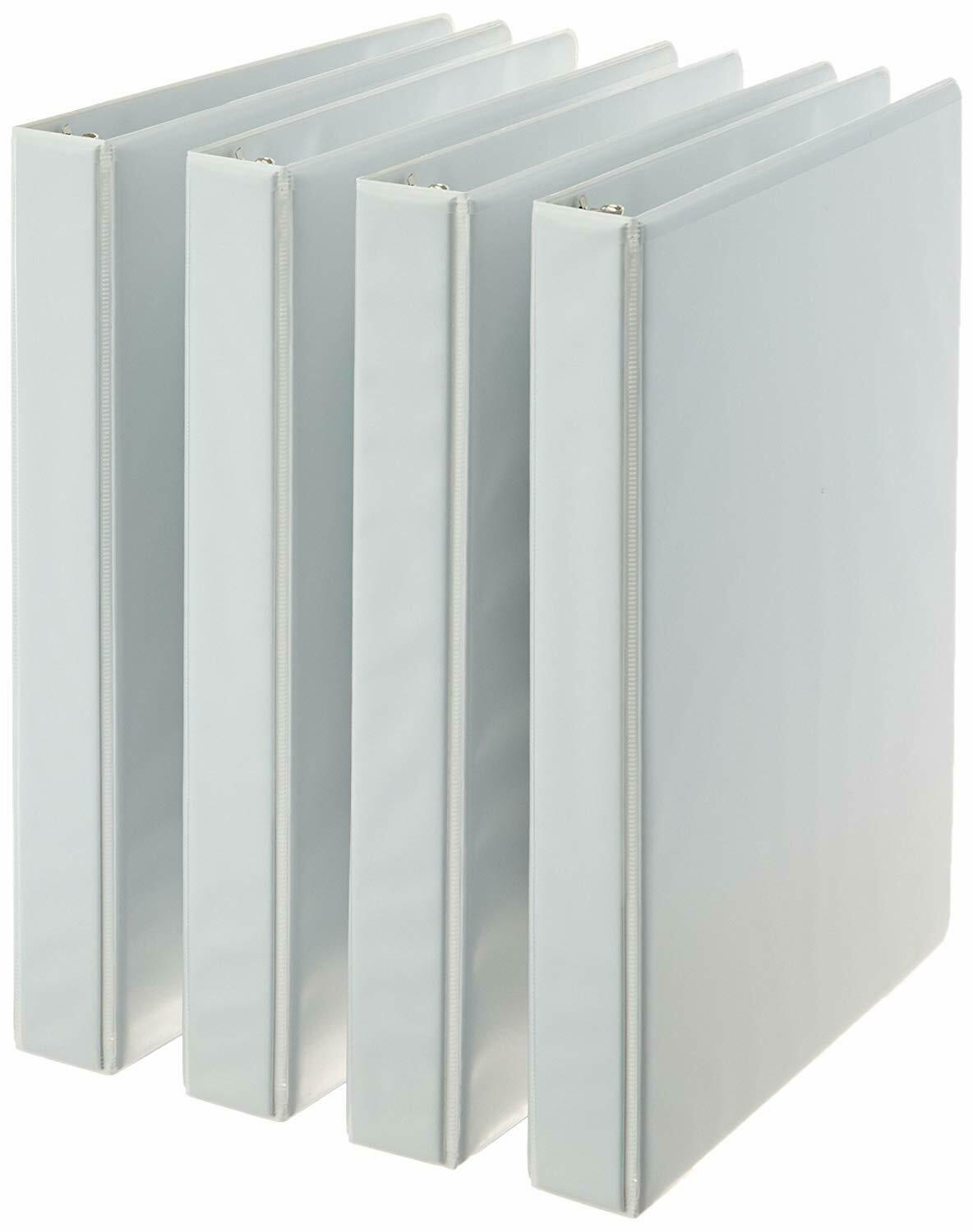 Amazonbasics 3-Ring Binder, 1 Inch - 4-Pack  *New*