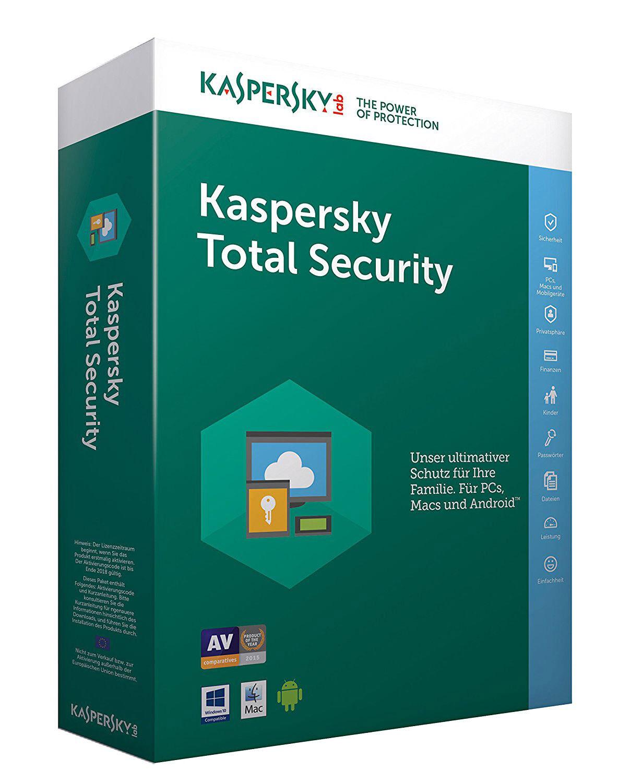 Kaspersky Total Security 2018 (1, 3 oder 5 Geräte) 1 oder 2 Jahre